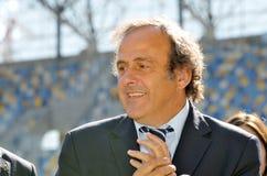 Miguel Platini en Ucrania imagenes de archivo
