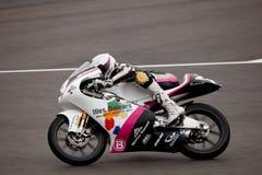 Miguel Poyatos Alarcon pilot of 125cc in the CEV Royalty Free Stock Photos