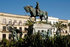 Miguel Primo de Rivera Monument in Arenal Plaza - Jerez - Spain Stock Images