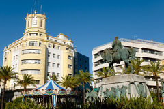 Miguel Primo de Rivera Monument in Arenal Plaza - Jerez - Spain Royalty Free Stock Image