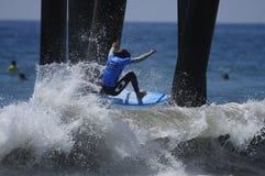 Miguel Pupo bij het US Open bij Huntington Beach Stock Afbeeldingen