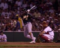 Miguel Tejada, escale d'Oakland Athletics Images libres de droits