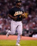 Miguel Tejada, jogador de campo de Oakland a Fotos de Stock Royalty Free