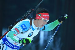 Miha Dovzan - biathlon Photos stock
