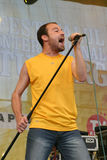 Mihai Emil Georgescu. Vocal at the romanian band Bere Gratis royalty free stock image