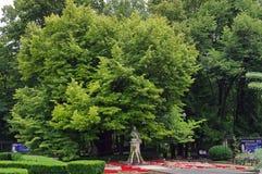 Mihai Eminescu Monument Royalty-vrije Stock Afbeelding