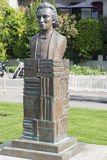 Mihai Eminescu statue in Vevey, Switzerland Royalty Free Stock Photo