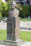 Mihai Eminescu statue in Vevey, Switzerland royalty free stock photo