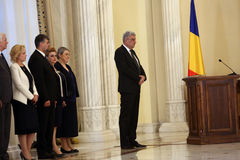 Mihai Tudose Cabinet Swearing-In Ceremony image stock