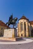 Mihai Viteazul statue in Alba Iulia Stock Images