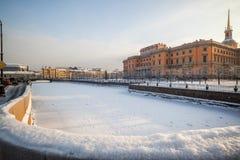 Mihaylovskiy城堡 免版税库存图片