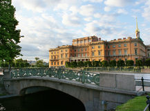 Mihaylovskiy castle. View over the bridge on a Mihailovskiy castle in Saint-Petersburg, Russia Stock Image