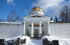 Mihaylovskiy cathedral and fortress wall Royalty Free Stock Photo