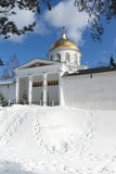 Mihaylovskiy cathedral and fortress wall Royalty Free Stock Photos