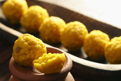 Mihidana - a gram flour based sweet from India Stock Photo