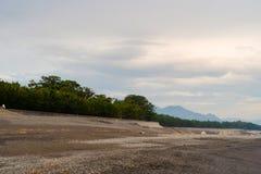 Miho seashore przy wschód słońca w Shizuoka Japonia Naturalne wybrzeże ziemie zdjęcia stock