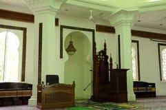 Mihrab του μουσουλμανικού τεμένους της Κουάλα Λουμπούρ Jamek στη Μαλαισία Στοκ φωτογραφία με δικαίωμα ελεύθερης χρήσης