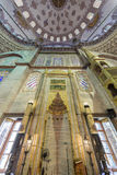 Mihrab του μπλε) μουσουλμανικού τεμένους Sultanahmet (σε Fatih, Ιστανμπούλ, Τουρκία Στοκ Εικόνες