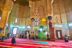 Mihrab av Abu al-Abbas al-Mursi Mosque i Alexandria, Egypten Arkivfoto