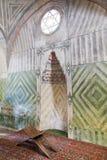 Mihrab av den lilla moskén i Khans slott, Krim Royaltyfria Bilder