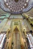 Mihrab av Sultanahmet (den blåa) moskén i Fatih, Istanbul, Turkiet Arkivfoto