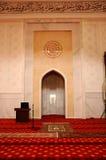 Mihrab av Tengku Ampuan Jemaah Mosque i Selangor, Malaysia Arkivfoto