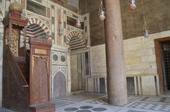 Mihrab da mesquita fotografia de stock