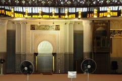 Mihrab de la mezquita nacional aka Masjid Negara de Malasia imagen de archivo