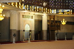 Mihrab de la mezquita nacional aka Masjid Negara de Malasia fotos de archivo