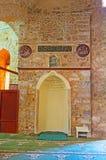 Mihrab de Yivliminare Alaaddin, Ulu Mosque, Antalya Foto de archivo