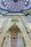 Mihrab della moschea (blu) di Sultanahmet in Fatih, Costantinopoli, Turchia Fotografie Stock Libere da Diritti
