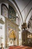 Mihrab di grande moschea a Bursa immagini stock