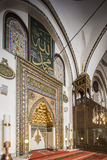 Mihrab of Grand Mosque in Bursa Stock Images