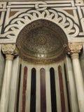 Mihrab inom grottan av patriarkerna, Jerusalem royaltyfri foto