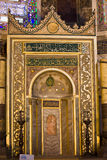 Mihrab nel Hagia Sophia Fotografia Stock