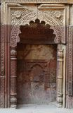 Mihrab in Qutub Minar complex in Delhi,India,islam stock photo