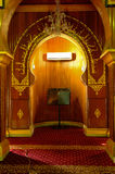 Mihrab of Sultan Ala'eddin Royal Mosque in Banting Royalty Free Stock Photo