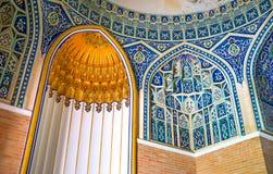 Mihrab w Qaldirghochbiy mauzoleumu Obrazy Stock