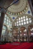 Mihrimah苏丹清真寺内部在伊斯坦布尔 库存图片