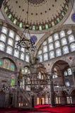 Mihrimah苏丹清真寺,伊斯坦布尔,土耳其内部  免版税库存图片