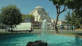 Mihrimah Sultan Mosque van park, Istanboel stock footage