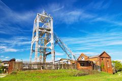 Miike煤矿宫原坑在大牟田日本 免版税图库摄影