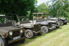 Miilitary cars 1945 Royalty Free Stock Photography
