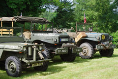 Miilitary cars 1945 Royalty Free Stock Images
