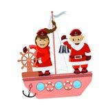 Miiss Santa Claus i Santa Claus ilustracji