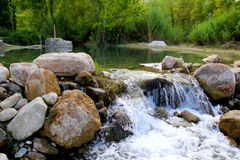 Mijares river near Montanejos nature Castellon Royalty Free Stock Image