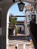 Mijas è uno di villaggi 'bianchi' più bei dell'area del sud della Spagna chiamata Andalusia Fotografie Stock Libere da Diritti