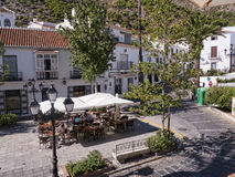 Mijas è uno di villaggi 'bianchi' più bei dell'area del sud della Spagna chiamata Andalusia Fotografia Stock Libera da Diritti