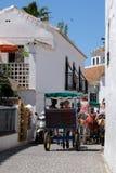 MIJAS ANDALUCIA/SPAIN - JULI 3: Ekipage i Mijas Royaltyfria Bilder