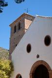 MIJAS ANDALUCIA/SPAIN - JULI 3: Kyrka av den obefläckade Concen Royaltyfria Bilder